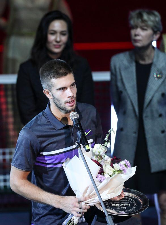 SpbOpen 2019 FormulaTX Sibur-Arena Tennis Tournament  St. Petersburg Open 2019 21 September 2019 ATP Singles Award Ceremony MEDVEDEV Daniil (RUS) vs CORIC Borna (CRO)